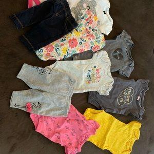 Newborn Baby Girl Onesie Bundle 🍼